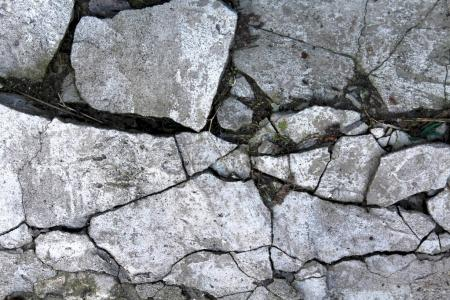 Old cracked concrete wall