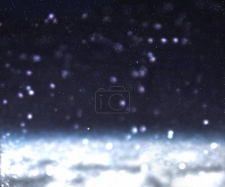 Blurred Snow falling