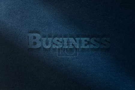 Business card, blue paper background