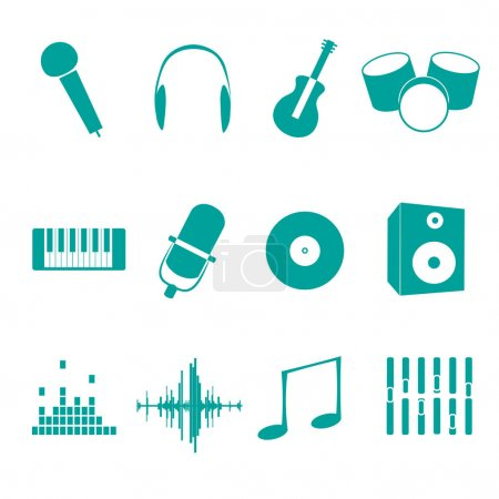 Different music icons