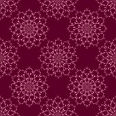Seamless red vector pattern background oriental motifs