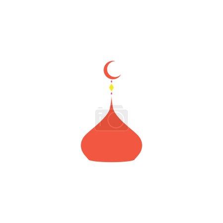Illustration pour Islam dôme Icône vecteur. Pictogramme plat de couleur simple - image libre de droit