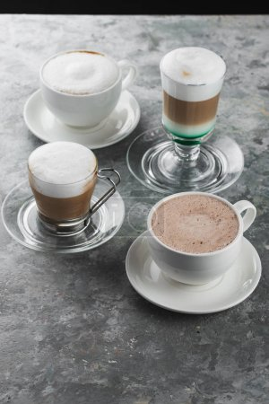 Photo for Cups of coffee on the table - Royalty Free Image