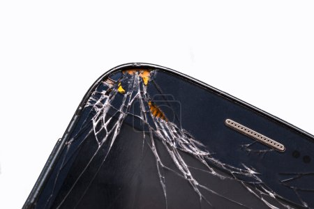 Cell phone with broken screen