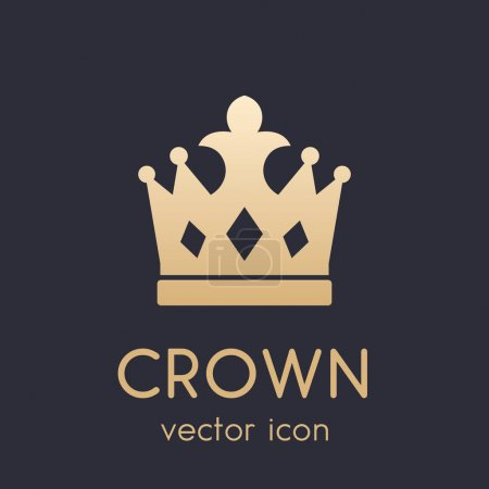 crown logo element, icon
