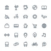 line icons set for maps or navigation apps