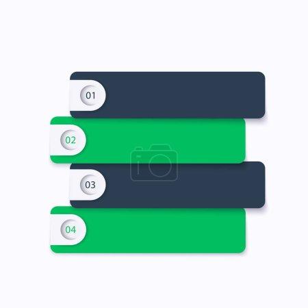 Illustration pour Étapes 1,2,3,4, chronologie, vector entreprise infographie, fichier eps 10, facile à modifier - image libre de droit