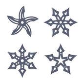ninja throwing stars shuriken on white