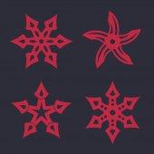 ninja stars shurikens vector illustration