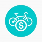 rent a bike round icon