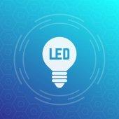 led light bulb icon energy saving technology