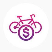 rent a bike icon logo element vector illustration