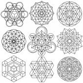 Sacred Geometry Symbols vector - set 04