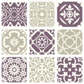 Classic vintage elegant pastel violet seamless abstract pattern 02