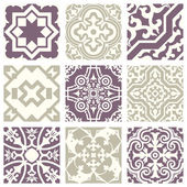 Classic vintage elegant pastel violet seamless abstract pattern 04