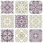 Classic vintage elegant pastel violet seamless abstract pattern 05