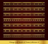 Vintage Gold Border Frame Vector Collection 43
