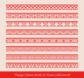 Antique Chinese retro abstract seamless pattern frame and border collection