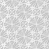 Vector damask seamless 3D paper art pattern background 091 Spiral Round Cross