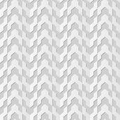 Vector damask seamless 3D paper art pattern background 122 Arrow Geometry Line