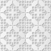 Vector damask seamless 3D paper art pattern background 137 Square Cross Geometry