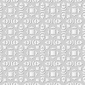 Vector damask seamless 3D paper art pattern background 139 Square Curve Geometry