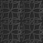 Seamless 3D elegant dark paper art pattern 106 Curve Cross Line