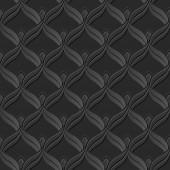 Seamless 3D elegant dark paper art pattern 108 Scale Curve Line
