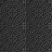 Antique black paper art retro abstract seamless pattern background