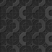Seamless 3D elegant dark paper art pattern 129 Round Corner Square