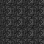 Seamless 3D elegant dark paper art pattern 132 Star Cross Geometry