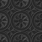Seamless 3D elegant dark paper art pattern 144 Round Spiral Flower