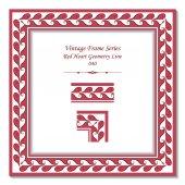 Vintage frame 040 Red Heart Geometry Line