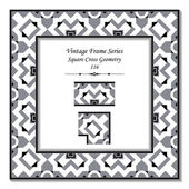 Vintage 3D frame 116 Square Cross Geometry