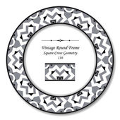 Vintage Round Retro Frame 116 Square Cross Geometry
