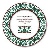 Vintage Round Retro Frame 135 Round Flower Vine