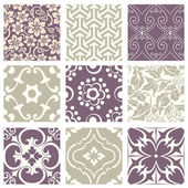 Antique retro abstract pattern set collection can be used for wallpaper web page background surface textures