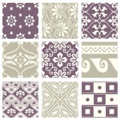 Classic vintage elegant pastel violet seamless abstract pattern 59