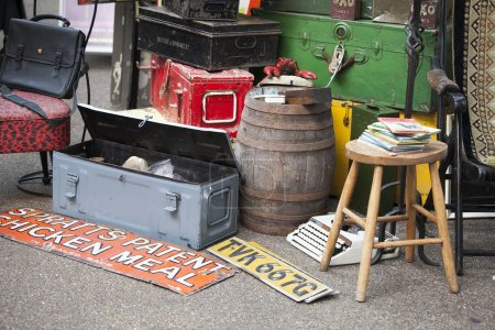 Antique market in the Spitalfields market is traditionally held on Thursdays