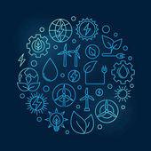 Alternative Energy circular blue illustration