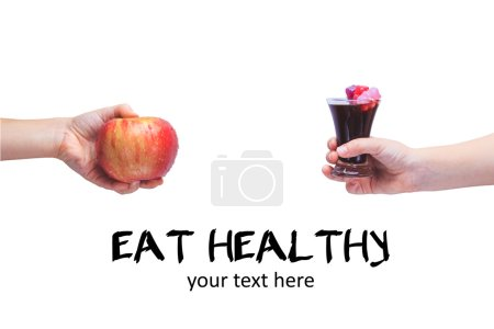 Eat healthy Concept of healthy