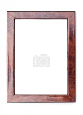Photo for Picture Frames Series, isolated on White Background Cut-Out: Nut Wood with Texture - Royalty Free Image