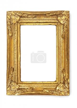 Photo for Picture Frames Series, isolated on White Background Cut-Out: ornamental gold antique - Royalty Free Image