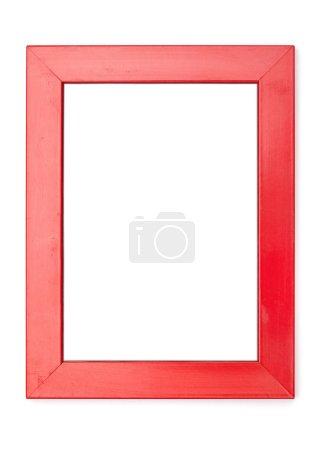 Foto de Serie Marcos, aislado en el blanco fondo recorte del cuadro: madera roja, amplia - Imagen libre de derechos