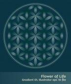 buddhism chakra illustration: Flower of Life Gradient
