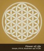 buddhism chakra illustration: Flower of Life Fill