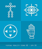 Virtual Reality Icons Set Series Flat 20 Design 02