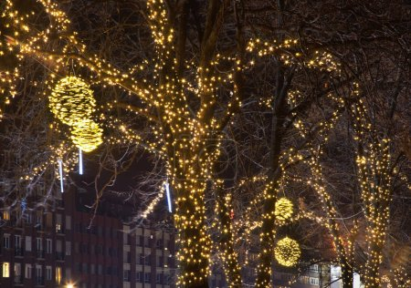 Holiday decorations of Budapest. Hungary...