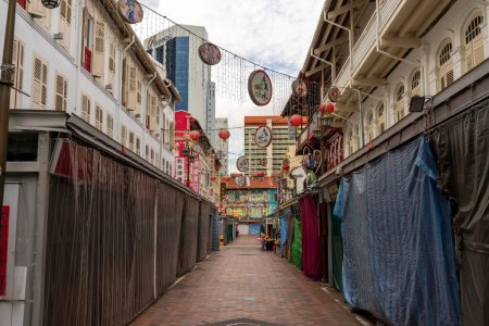 Photo for Closed for business in chinatown singapore - Royalty Free Image