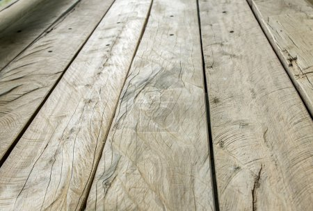 Rustic Wood plank in perspective view (low angle)